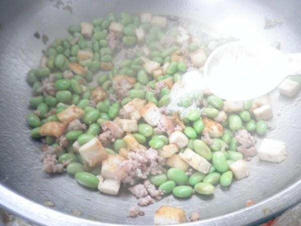 毛豆豆腐炒肉末怎样做