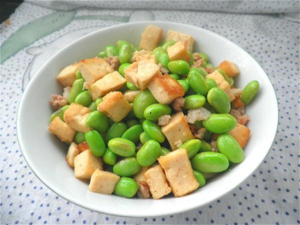 毛豆豆腐炒肉末怎样煮