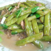 四季豆炖红薯粉