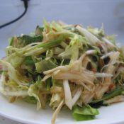 酱拌金针菇苦苣