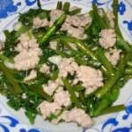 肉末油淋竹叶菜