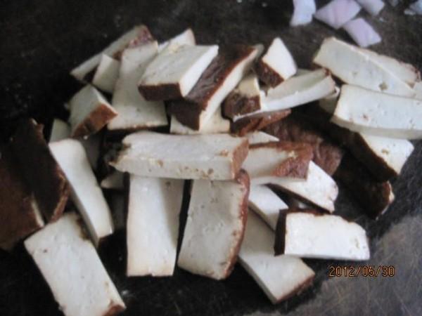 豆腐干炒四季豆的做法图解