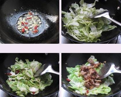 手撕包菜小炒肉的家常做法