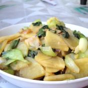 油菜土豆片的做法大全