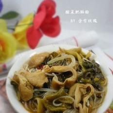 酸菜肥肠粉