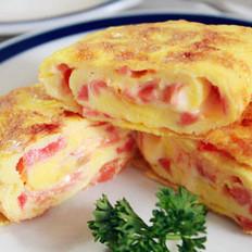 火腿番茄奶酪鸡蛋卷