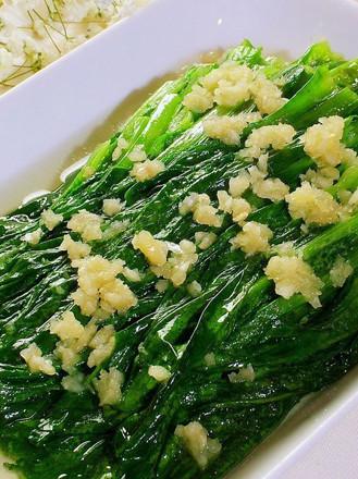 蒜茸油麦菜的做法