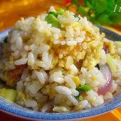 西葫芦炒双色米饭