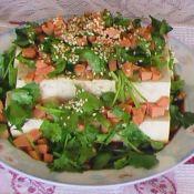香菜火腿拌豆腐