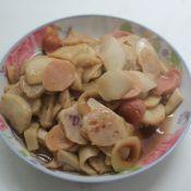 杏鮑菇炒丸子