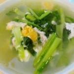 咸蛋肉沫芥菜汤