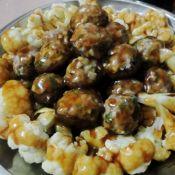 椰菜花冬菇酿