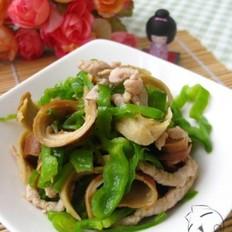 青椒肉丝炒面筋