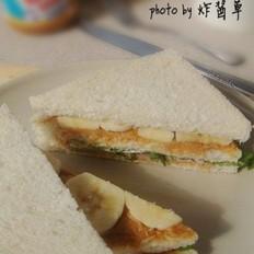 香蕉火腿三明治