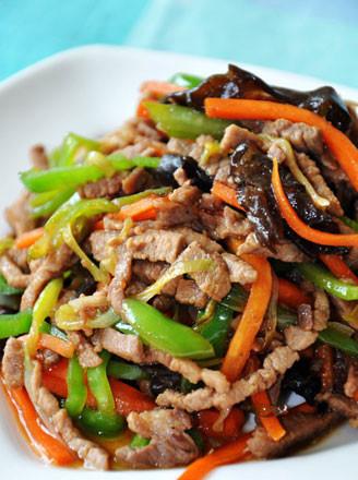 家常肉丝炒合菜的做法