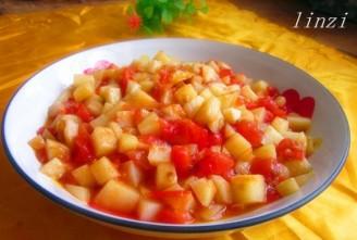 番茄土豆丁的做法