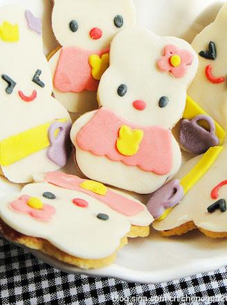 翻糖兔子餅干的做法