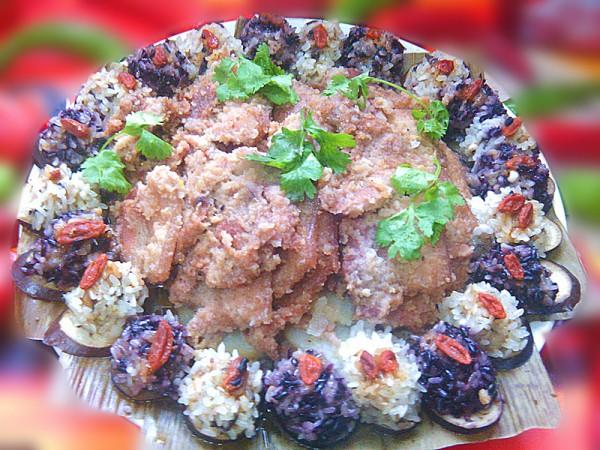 双色珍珠丸子粉蒸肉的做法大全