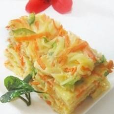 胡萝卜土豆丝鸡蛋煎饼