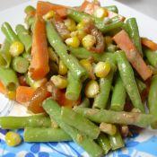 玉米香虾拌豇豆