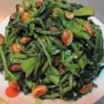 老醋菠菜花生米