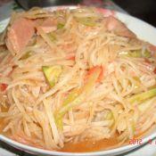 火腿腸炒土豆絲
