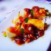 蒜香蚝油豆皮卷