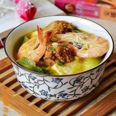肉丸鮮蝦燉豆腐