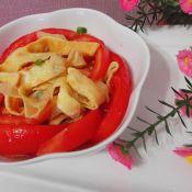 干豌豆怎么吃好吃鸡蛋皮凉拌西红杮的做法