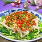 香菜伴金针菇