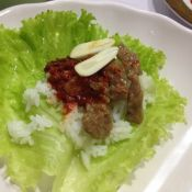 韓式牛肉菜包飯
