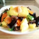 广东菜干怎么做菠萝拌木耳的做法