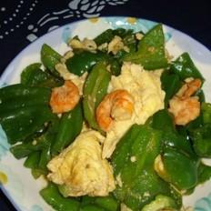 青椒炒虾仁
