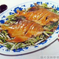 青蒜烧晶鱼