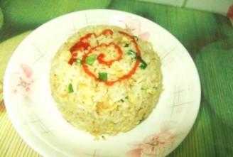 鸭蛋虾皮炒饭