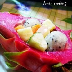 什么蔬菜炒肉好吃火龙果蔬果沙拉的做法