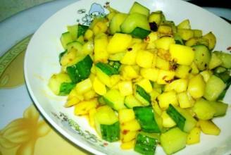 土豆炒黄瓜丁的做法