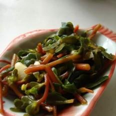 水果丝瓜怎么做好吃蒜泥马齿苋的做法