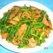 猪肉片炒辣子豆角