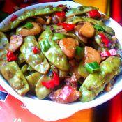 豬頸肉燒豆角土豆
