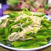 金针菇炒空心菜梗