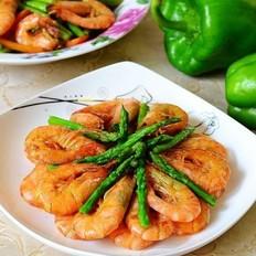 芦笋油爆虾