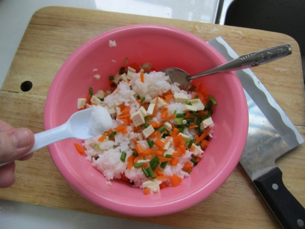 豆腐香煎米饼的简单做法