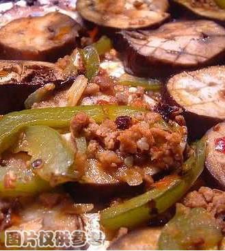肉碎豆酥烤茄子的做法
