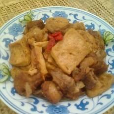 鸭肉烧豆腐