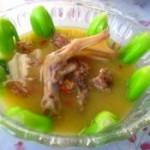 青菜鴨肉湯
