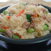 肉丁炒糯米饭