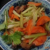 卤肉炒鲜蔬