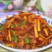 辣椒炒紅油香干