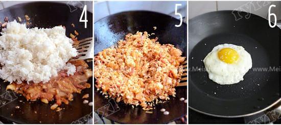 培根泡菜炒饭的做法图解